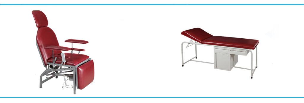 Kreveti za pregled i Stolice za vadjenje krvi